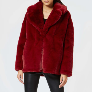 Diane von Furstenberg Women's Collared Jacket - Ruby