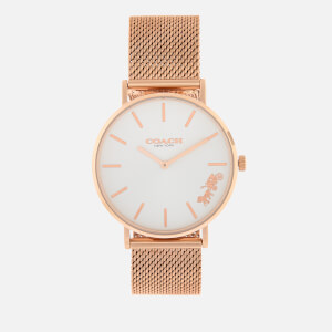 Coach Women's Perry Link Metal Watch - Rosegold