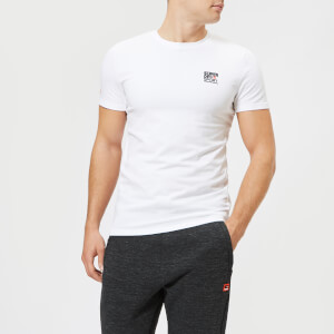 Superdry Sport Men's Core Shorts Sleeve Sign Off T-Shirt - White