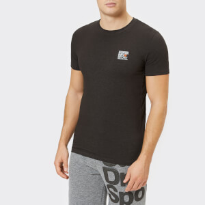 Superdry Sport Men's Core Shorts Sleeve Sign Off T-Shirt - Black