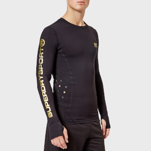 Superdry Sport Men's Performance Compression Long Sleeve Top - Black