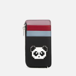 Les Petits Joueurs Women's Cardholder Zip Panda - Black/Multi