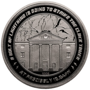 "Back to the Future ""Clocktower"" Collector's Limited Edition Coin: Silver Variant"