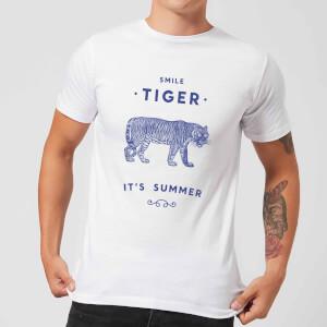 Florent Bodart Smile Tiger Men's T-Shirt - White