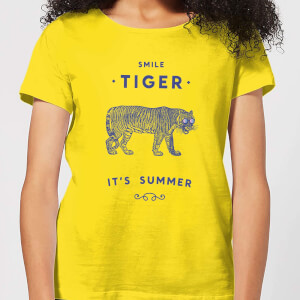 Florent Bodart Smile Tiger Women's T-Shirt - Yellow