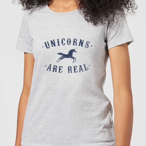 Florent Bodart Unicorns Are Real Women's T-Shirt - Grey