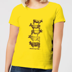 Florent Bodart Cow Cow Nuts Women's T-Shirt - Yellow