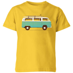 Florent Bodart Blue Van Kids' T-Shirt - Yellow