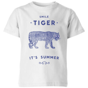Florent Bodart Smile Tiger Kids' T-Shirt - White