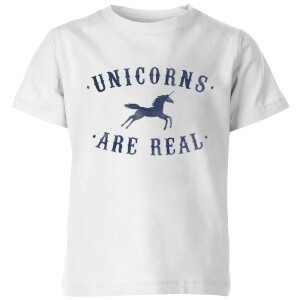 Florent Bodart Unicorns Are Real Kids' T-Shirt - White