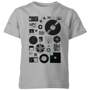 Florent Bodart Data Kids' T-Shirt - Grey