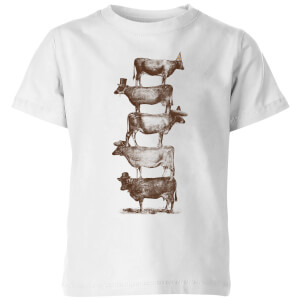 Florent Bodart Cow Cow Nuts Kids' T-Shirt - White