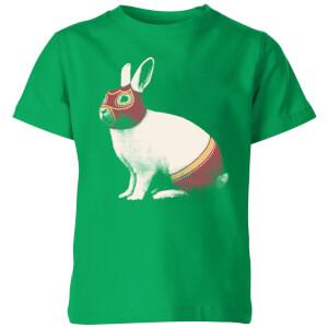 Florent Bodart Lapin Catcheur Kids' T-Shirt - Kelly Green