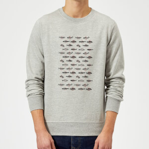 Florent Bodart Fish In Geometric Pattern Sweatshirt - Grey