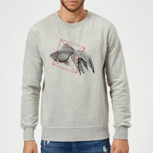 Florent Bodart Fish In Geometry Sweatshirt - Grey