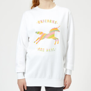 Florent Bodart Unicorns Are Real Women's Sweatshirt - White