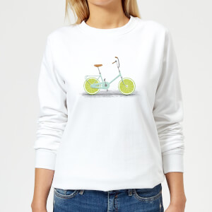 Florent Bodart Citrus Lime Women's Sweatshirt - White