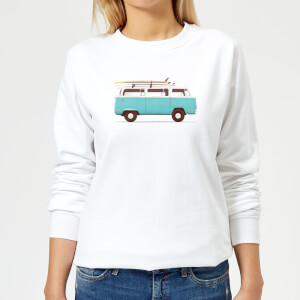 Florent Bodart Blue Van Women's Sweatshirt - White