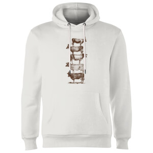 Florent Bodart Cow Cow Nuts Hoodie - White