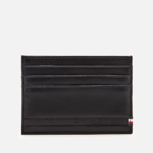 Tommy Hilfiger Men's Selvedge Embossed Card Holder - Black
