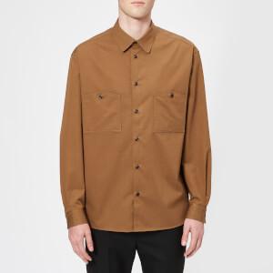 Lemaire Men's Patch Pocket Shirt - Tobacco