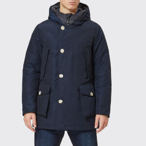 Woolrich Men's No Fur Arctic Parka - Melton Blue