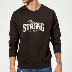Stay Strong Logo Sweatshirt - Black