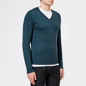 John Smedley Men's Blenheim 30 Gauge Extra Fine V Neck Jumper - Racing Green