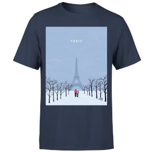 Paris Men's T-Shirt - Navy