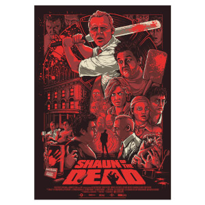 "Shaun of the Dead ""Who Died and Made You King of the Zombies"" 61 x 91 cm Screenprint - Zavvi Exklusiv (175 Exemplare weltweit)"