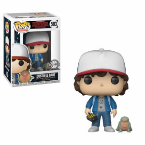 Figurine Pop! Dustin avec Bébé Dart - Stranger Things - EXC
