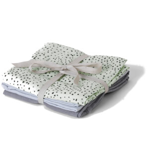 Ferm Living Muslin Squares - Mint Dot (Set of 3)