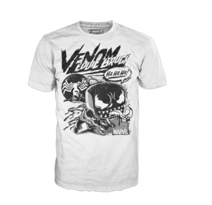 POP! Tees: Marvel - Venom Comic Collage - White