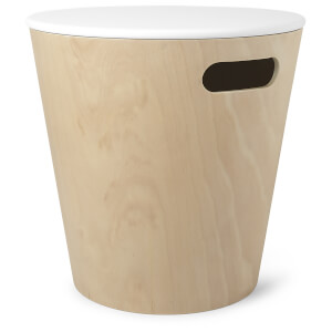 Umbra Woodrow Storage Stool - White/Natural