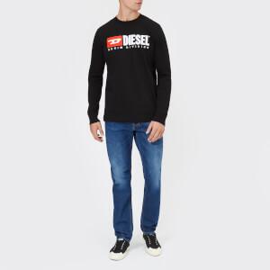 Diesel Men's T-Just Long Sleeve Division T-Shirt - Black: Image 3