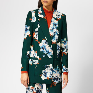 Gestuz Women's Fala Blazer - Deep Pine Flower