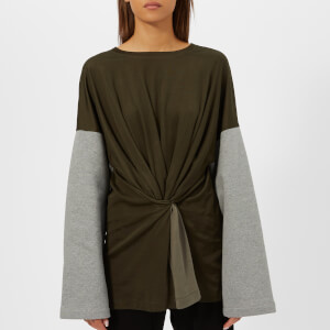MM6 Maison Margiela Women's Sweatshirt - Khaki/Grey Melange