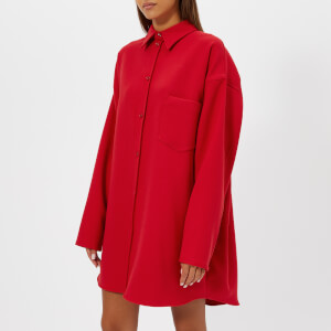 MM6 Maison Margiela Women's Oversized Shirt Dress - Red