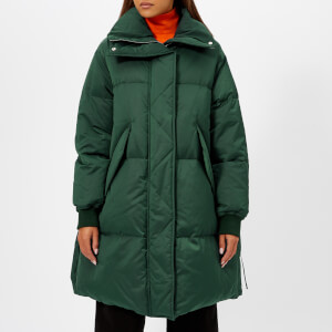 MM6 Maison Margiela Women's Puffed Nylon Coat - Dark Green
