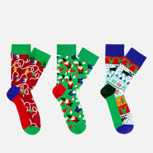 Happy Socks Men's Holiday Gift Box - Multi - UK 7.5-11.5