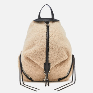 a4f6a89f1338b Rebecca Minkoff Women s Shearling Julian Side Zip Backpack - Natural