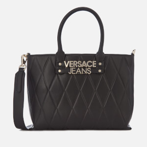 Versace Jeans Women's Quilted Classic Tote Bag - Black