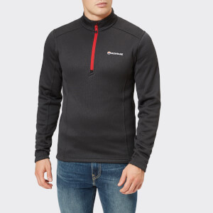Montane Men's Forza Pull On Fleece Jumper - Black