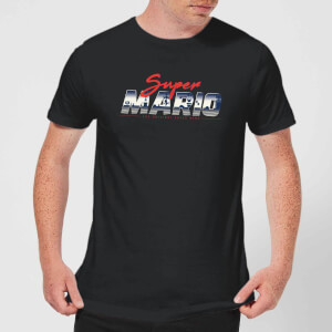 T-Shirt Nintendo Super Mario Original 80s Hero - Nero - Uomo