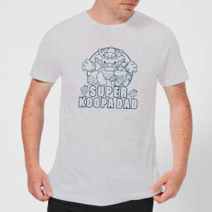 Nintendo Super Mario Super Koopa Dad Men's T-Shirt - Grey