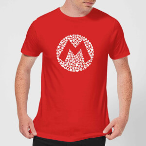 Nintendo Mario Items Logo Herren T-Shirt - Rot