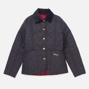 Barbour Girls' Summer Liddesdale Jacket - Navy/Fucshia