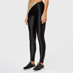 Koral Women's Chase Mid Rise Energy Leggings - Hummus/Black