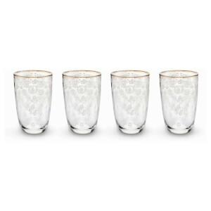 Pip Studio Longdrink Glasses - Floral (Set of 4)