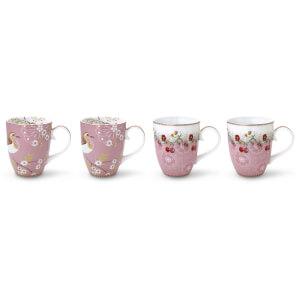 Pip Studio Large Mugs - Pink (Set of 4)